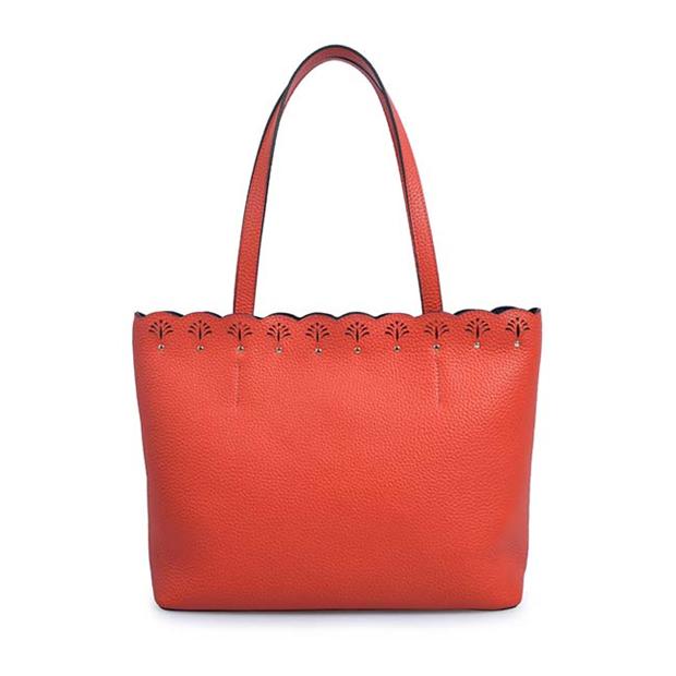 Leather women shoulder tote bag