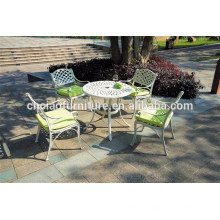 White table and KD chairs aluminum furniture
