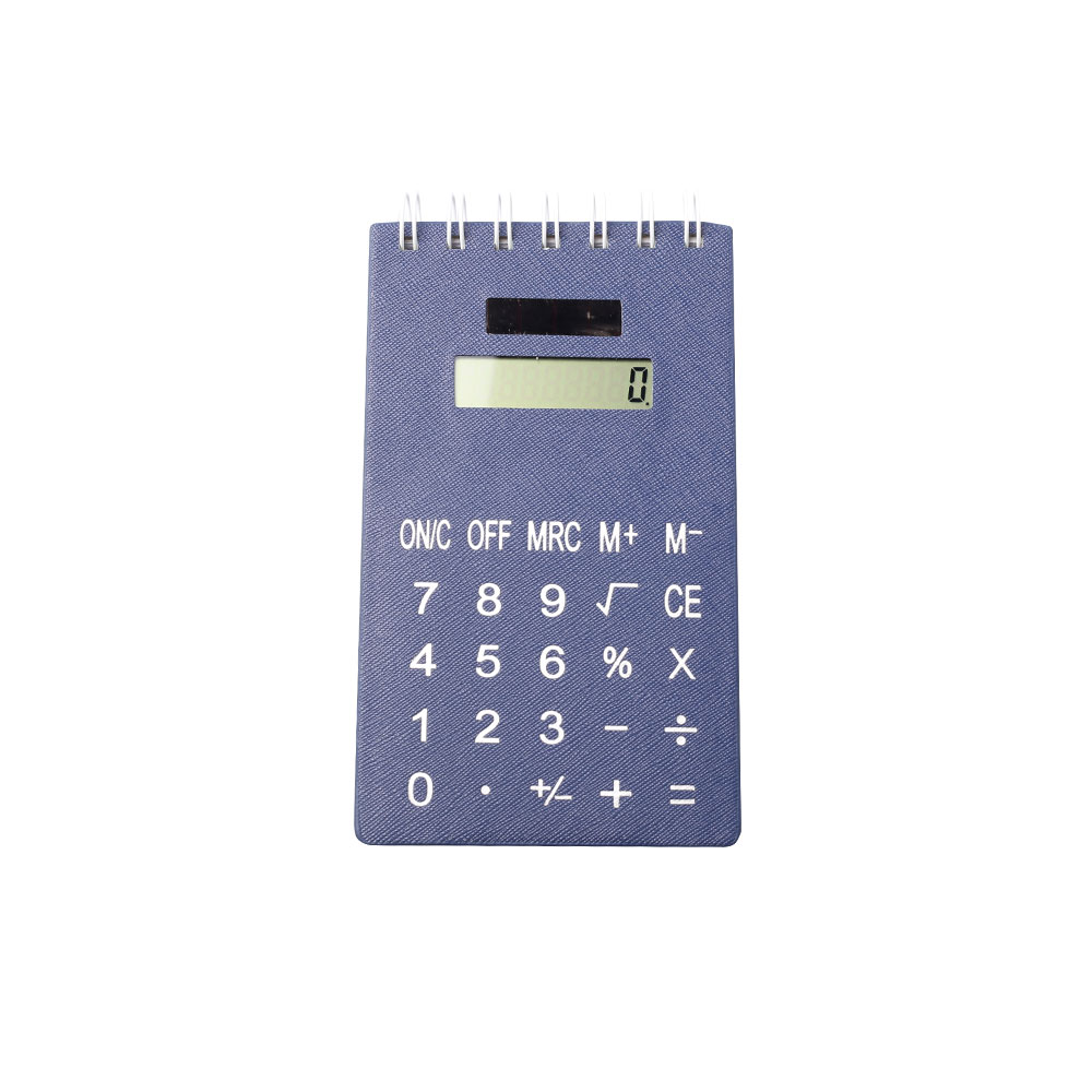 8 Digits Children Favorite Leather Notebook Calculator