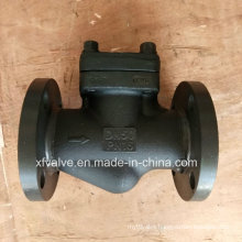 DIN Standard Forged Steel Flange Connection End Piston Check Valve