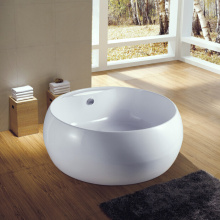 Cupc UL Massage Tub Seamless Round Floor Standing Alone Free Standing Tubs