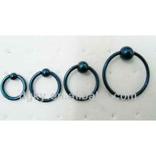 Black Titanium Anodized Ball Closure Ring