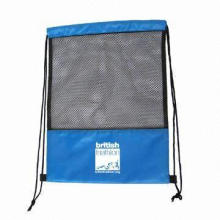 Mesh Drawstring Bag, Eco-friendly and Reusable, Customized Logos Welcomed