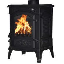 Matt Black Wood Burning Fireplace