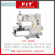 Double Needle Flat-Bed Belt Loop with Front Fabric Cutter Machine (2000c)