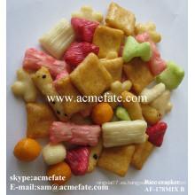 Colorido deliciosa comida caliente bocado galleta de arroz venta