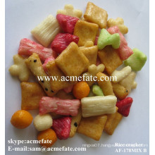 Coloured delicious hot sale rice cracker snack food