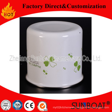 Sunboat Enamel Storage Tank Storage Tank Tea/ Snack Tin
