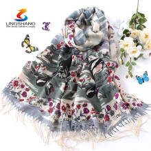 Neuesten Schal für Winter 2015, Mode Kaschmir Pashmina Hijab Schal, Großhandel Digitaldruck Kaschmir Shaw Schal