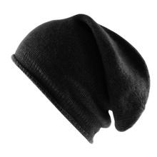 Bonnet noir crocheté de haute qualité