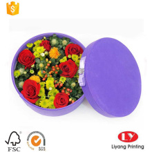 Round flower gift hat cardboard packaging box