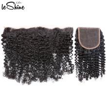 Vendeur de cheveux brésilien non transformé 13 * 4 vague d'eau frontale oreille en dentelle à l'oreille outre-mer