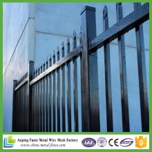 2.1 * 2.4m Powder Coated Stahl Ornamental Eisen Stahl Tubular Zaun für Garten