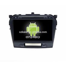 ¡Fábrica directamente! ¡Reproductor de DVD lleno del coche de la pantalla táctil Android 4.4 para suzuki vitara 2015 + centro de Qual + OEM!