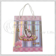 Custom Shiny Laser Paper Shopping Bag (KG-PB004)