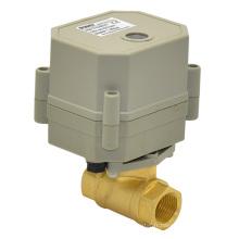 110-240 à la vanne à bille en laiton électrique à 3/8 po pour les eaux usées à petite échelle (T10-B2-C)