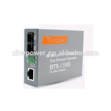 Convertisseur Ethernet rapide Fast Ethernet 25km 10/100, convertisseur de fibre optique double fibre