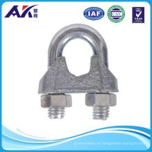 Abrazadera maleable de clip de cable de cuerda de alambre de acero galvanizado