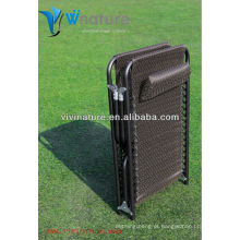 Confortável Lay Long Bed com Pillow / Útil Out Porta Folding Camp Chair / Alta Qualidade Durable Beach Usando Cama