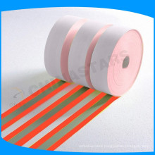 orange-silver -orange color flame retardant drapery fabric for high visibility safety garment