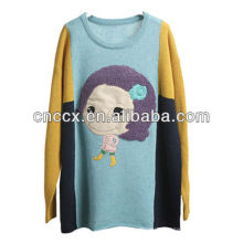 12STC0716 süße Puppe verschönert Damen Urlaub Pullover