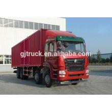 Sinotruk Hohan brand 8X4 drive van truck for 20-48 cubic meter