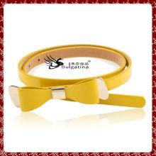 Belle ceinture en cuir bowknot pour machine à coudre, ceinture en cuir séparé par pu