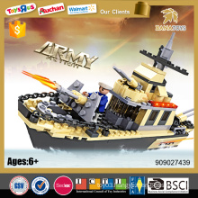 New design building blocks toys for kids educational military boats for sale