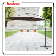 9' steel 8ribs patio hanging cantilever umbrella, outdoor patio garden umbrella, cantilever umbrella with crank