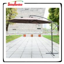 9' сталь 8ribs патио висит консольный зонтик, открытый внутренний дворик с садом зонтик, консольный зонт с рукояткой