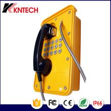 Los teléfonos pesados Knsp-09 con cable blindado Kntech