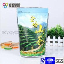 Kundenspezifische bedruckte Standfuß-Aluminiumfolientasche mit Reißverschluss für Tee / Kaffee