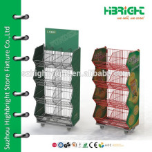 Custom color retail floor display stand for lamps led