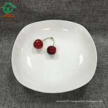 White porcelain wholesale ceramic dinner plate