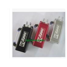 Universal Square Oil Catch Dose mit Alumunum 0.5L Schwarz / Rot / Silber