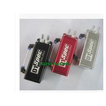 Universal Square Oil Catch Can com Alumunum 0.5L Preto / Vermelho / Prata
