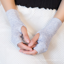 wholesale warm fashion knit cashmere wool shearling gloves women