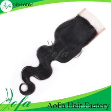 Peluca de cordón suelto humano brasileño sin procesar del pelo humano