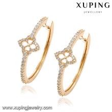 92059 mode zircon cubique plaqué or 18 carats bijoux boucle d'oreille cerceau