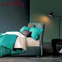 Proveedor de ropa de cama de hotel de alta calidad 100% Cotton60s Juego de sábanas de cama gris claro