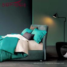 Fournisseur de linge de literie d'hôtel de haute qualité 100% Cotton60s gris ensemble de draps de lit
