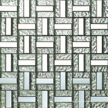 Aluminium Mix Bump Glass Block Mosaic