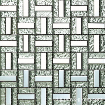 Aluminium Mix Bump Glass Block Mosaic