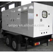 OEM топ качество shangchai бренд прицепа дизельный генератор с leadtech генератор переменного тока