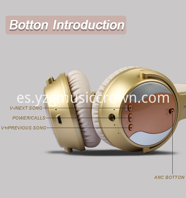 ANC headset Botton