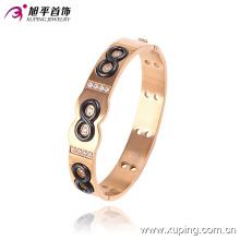 51446 Newsales Fashion Xuping Rose brazalete de joyería de imitación dorado con 8 números en joyería de acero inoxidable