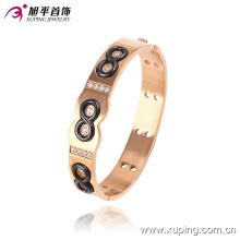 51446 Newsales Fashion Xuping Bracelet de bijoux en imitation plaqué or rose avec 8 chiffres en bijoux en acier inoxydable