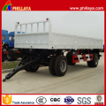 Double Axles Cargo Transport Full Trailer with Side Wall