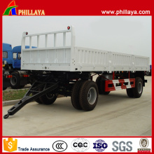 Remorque complète de transport de fret à deux essieux avec paroi latérale