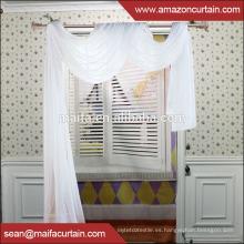 Nuevo estilo de las cortinas para 2016 Nuevo diseño 100% Polyester Buena calidad pero barata de la cortina de la ventana del organza